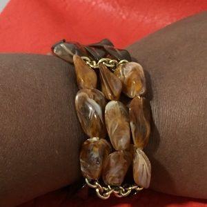 Ladies Colorfully Brown Bracelet